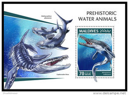 MALDIVES 2018 MNH** Prehistoric Water Animals Wassersaurier S/S - OFFICIAL ISSUE - DH1843 - Prehistorics