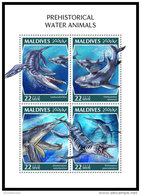 MALDIVES 2018 MNH** Prehistoric Water Animals Wassersaurier M/S - OFFICIAL ISSUE - DH1843 - Prehistorics