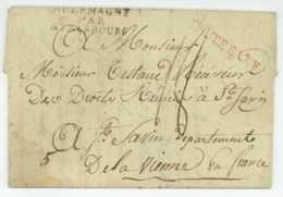 Armee D'Allemagne 1810 LEIPZIG Employe Des HOPITAUX Militaires Bamberg Saint-Savin Testaud - Historische Dokumente