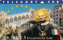 Denmark, TP 079B, ECU-Italy, Mint, Only 1.250 Issued, Bridge, Flag, 2 Scans - Denmark