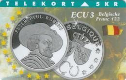 Denmark, TP 072B, ECU-Belgium, Mint, Only 1.200 Issued, Coins, 2 Scans. - Denmark