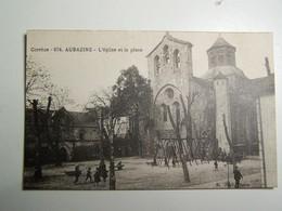 41  C  AUBAZINE L Eglise Et La Place - Autres Communes
