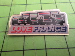310a Pin's Pins / Beau Et Rare / THEME TRANSPORTS : CAMION CAMIONETTE FOURGON LOVE FRANCE - Transportation