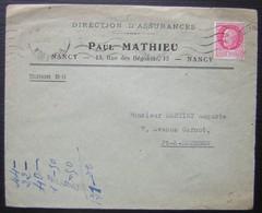Nancy 1942 Paul Mathieu Direction D'assurances 13 Rue Des Bégonias - 1921-1960: Modern Period