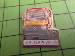 310a Pin's Pins / Beau Et Rare / THEME TRANSPORTS : CAMION RENAULT S.A. ALAIN BUFFA - Transportation