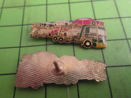 310a Pin's Pins / Beau Et Rare / THEME TRANSPORTS : J SAVIN CAMION TRANSPORTEUR DE VOITURES - Transportation