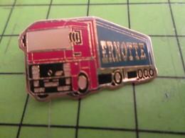 310a Pin's Pins / Beau Et Rare / THEME TRANSPORTS : CAMIONS TRANSPORTS ERNOTTE Mais Pas Delphine - Transportation