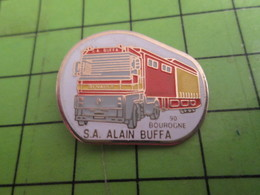 310a Pin's Pins / Beau Et Rare / THEME TRANSPORTS : CAMION RENAULT S.A ALAIN BUFFA A BOUROGNE - Transportation
