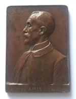 Médaille Bronze. A Mes Amis. G. Devreese.1921. Signature. 55 X 75 Mmmm - Professionnels / De Société