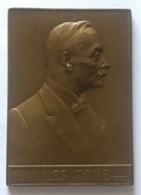 Médaille Bronze. Jules Zone 1935. Promoteur Et Réalisateur  De Bruxelles Port De Mer. Victor Rousseau .  45x65 Mm - Professionals / Firms