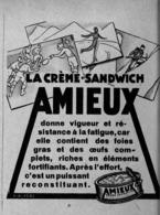 """PUB CREME-SANDWICH   """" AMIEUX """" 1931  ( 1 ) - Other"""