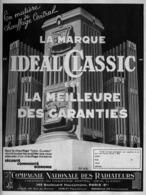 "PUB CHAUFFAGE CENTRAL  "" IDEAL-CLASSIC "" Par POL ARLEX  1931 (4 ) - Other"