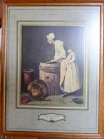 """J.B. Chardin - """"La Récureuse"""" - Collection H. De Rothschild - Other Collections"""