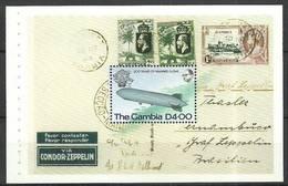 Gambia 1983 Mi H-blatt 495 MNH ( ZS5 GMBh-blatt495 ) - Stamps On Stamps