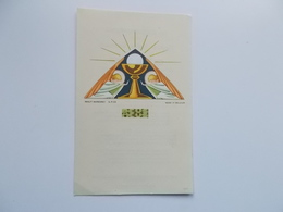 Devotieprentje: Plechtige Communie Van Gilbert SABBE , Tielt  H. Sacramentsdag 1943 - Communion