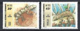 Nouvelle Caledonie  Yv 516/17 Faune,les Geckos ** Mnh - Nouvelle-Calédonie
