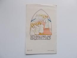 Devotieprentje: Première Communion De Claudette FASTREZ Ermeton-Sur-Biert Le 16 Mai 1945 - Communion