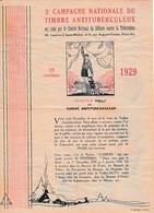 1929 - 3° Campagne Nationale Du TIMBRE ANTITUBERCULEUX - - Historical Documents