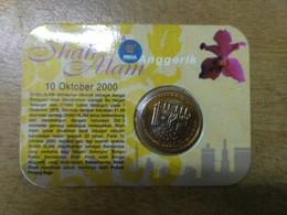 Malaysia 2000 1 Ringgit Nordic Gold Coin BU  Bi Metal Shah Alam Selangor Orchids Flowers - Malaysie