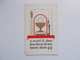 Devotieprentje: Plechtige Communie Van Monique HANOULLE, Grauwe Zusters Te Roeselare 16 Juni 1949 - Communion