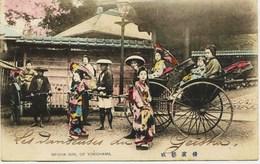 10979 -  Asie - JAPON  :  YOKOHAMA   LES DANSEUSES DU GEISHA  -  En  1905  -  Rare - Yokohama