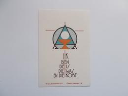 Devotieprentje: Plechtige Communie, H. Vormsel , Klein Seminarie Te Mechelen 25 Mai 1952 ( Naamloos) - Communion