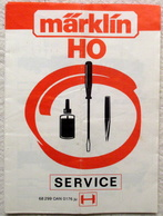 MÄRKLIN H0 Service Heft Lok 3000 - 3099 Sammlerstück 1973 1976 Mehrsprachig - Scala HO