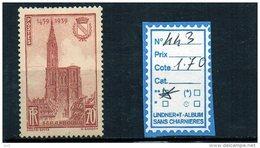 FRANCE LUXE ** N° 443 - Unused Stamps