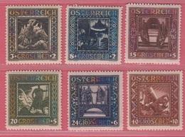 1926 ** (sans Charn., MNH, Postfrish)  Yv  368/73  Mi 488/93I  ANK 488/93A - 1918-1945 1. Republik