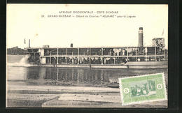 "CPA Grand-Bassam, Depart Du Courrier ""Adjame"" Pour La Lagune - Postkaarten"