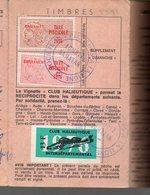 (32 Gers) Carte De Membre Des APP Du Gers (pêcheurs) 1976 Avec Timbres Fiscaux Taxe Piscicole (PPP15805) - Old Paper