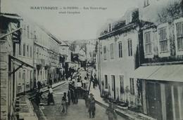 O) 1900 CIRCA-FRENCH COLONY-MARTINIQUE, BEFORE PERIOD-RUE VICTOR HUGO-ARCHITECTURE, POSTAL CARD XF - Postcards