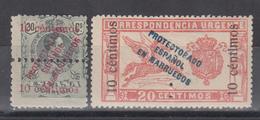 Marruecos , 1920   Edifil Nº 64, 66,   /*/, - Marruecos Español