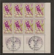 Lot De 5 Blocs De 8 Timbres JO De Grenoble N°1543 à 1547 (oblitération 1er Jour Dans La Marge) - Ongebruikt