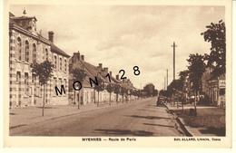 MYENNES (58)  ROUTE DE PARIS - EDIT. ALLARD - Francia