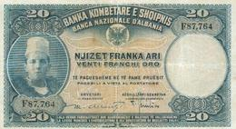 20 FRANCS 1926 - Albanie
