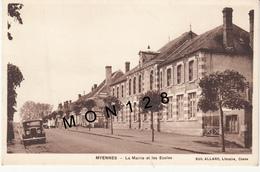 MYENNES (58)  LA MAIRIE ET LES ECOLES  - EDIT. ALLARD (voiture) - France