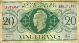 20 FRANCS AFRIQUE EQUATORIALE FRANCAISE 1941 - Billets