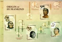 South Africa - 2006 Origins Of Humankind Sheet (**) # SG 1621 , Mi 1736-1739 - Fósiles