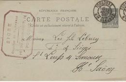 Carte Commerciale 1899 / Entier / SICRE / Chaises & Vannerie / 14 Pl Du Pont Neuf / 31 Toulouse - Maps