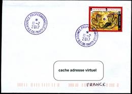 """Cachet """"AGENCE PROFESSIONNELLE - Tahiti""""  Sur Lettre - Polynésie Française"""
