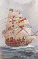 AM19 Shipping - Ark Royal Aka Anne Royal - Artist Signed Postcard - Sailing Vessels