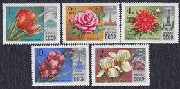 Russia USSR 1978 Flowers - Flora, MNH (**) Michel 4722-4726 - 1923-1991 USSR