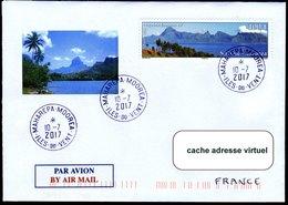 Lettre De MOOREA Avec Timbre, Cachet Et Illustration Concordants - Polynésie Française