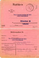 (k6759) Karte All. Bes St. München Rückschein Ablieferungsschein - Zone AAS