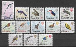 GAMBIA - OISEAUX / BIRDS - YVERT 208/220 * /MLH - COTE = 24 EUR. - Gambie (1965-...)