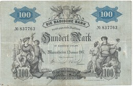 100 MARKS GRAND DUCHE DE BADE 1907 - 100 Mark