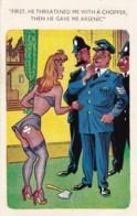 AP98 Comic/humour - Woman With Policemen - Humor