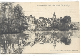 CARENNAC . VUE PRISE DE L'ILE DE CALIPSO . CARTE AFFR AU VERSO LE 3 JUILL 1911 . 2 SCANES - Otros Municipios