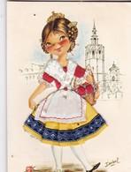 (Alb 1.11) Cartes Postale Habillée Ou Brodée (cette Carte à Pue être épinglée Au Mur Ou Collée Dans Un Album - Cartes Postales